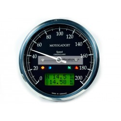 MARCADOR VELOCIMETRO CHRONOCLASSIC SPEEDO 80mm NEGRO