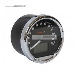 Marcador Velocimetro Digital CAFE RACER Universal MARCO CROMADO  80mm