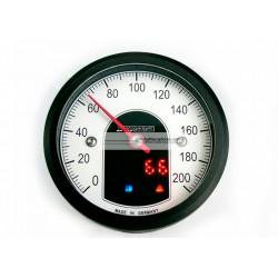 MARCADOR VELOCIMETRO MOTOSCOPE TINY NEGRO ANODIZADO 53mm