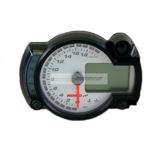 Cuadro Instrumentos KOSO RX2-N 20000 RPM Blanco