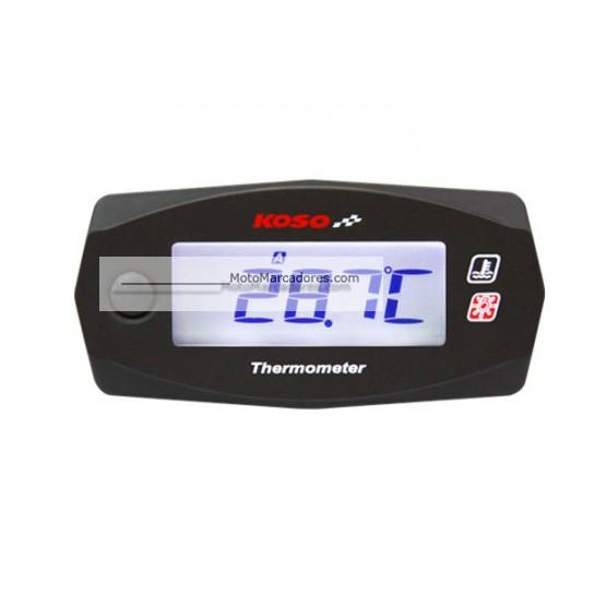 Termometro KOSO Dual Mini Autoalimentado