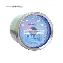 Marcador KOSO Cuenta Revoluciones GP STYLE II BLANCO/AZUL 16.000 RPM