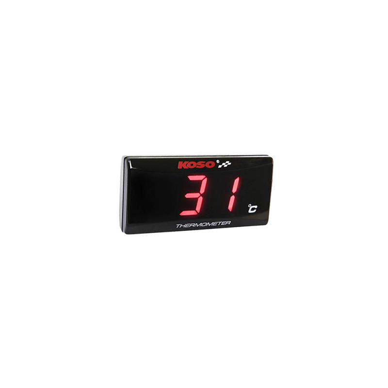 Termometro KOSO Super Slim Rojo
