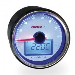 KOSO Cuenta Revoluciones GP STYLE II BLANCO/AZUL 9.000 RPM